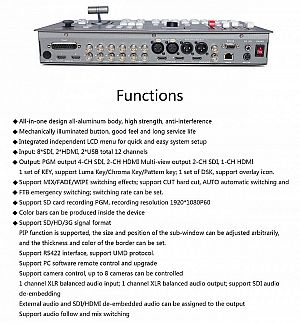 HDS6110 SDI Video Switcher