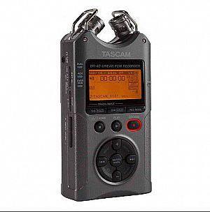 Tascam DR40 Voice Recorder Version 2 (Luminous Gray)